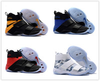 Wholesale Cheap Size 14 Basketball Shoes - 2017 Top quality james 10 Man-at-arms X EP Game Blue Men's Basketball Shoes for james 14 Cheap Sale Sports Training Sneakers Size 7-12
