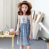 Wholesale Floral Cotton Lace Trim - Everweekend Big Girls Ruffles Lace Trimmed Floral Embroidered Sundress Princess Floral Print Summer Party Dress