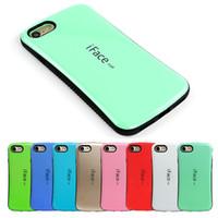 iphone wave back case toptan satış-Üst satış iFace mall Bicolor dalga silikon kılıf iphone 7 Için artı geri kabuk koruyucu cep telefonu cilt iphone 6 6 s 5 s