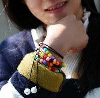 Wholesale Headset Decorations - Idoit polished wooden colorful stone beads in-ear bracelet earphone with mic suitable for clothing decoration for I phone Headset