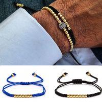 Wholesale Womens Accessories Bracelet - 2016 Anil Arjandas Fashion Luxury 18kt Gold Plated Beads Macrame Bracelet Micro inlay zircon Mens & Womens New Style Accessories
