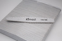 Wholesale File Good - 50pcs Lot Kimcci Good Quality Manicure Tools Set Nail Art File Sandpaper Slim Buffer Edge 100 180 Nail Salon Manicure Supplies