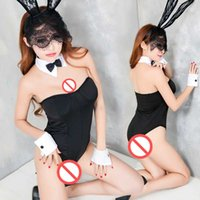 Wholesale Japanese Costumes Adult - Free shipping new sexy lingerie adult sexy lingerie maid loaded sexy Japanese lace maid playing student uniform temptation set bunny girl