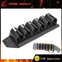 Soportes De Placas Redondas Baratos-FUEGO WOLF Escopeta lateral Saddle Mossberg 500 590 12 Gauge GA 6 redondo Shell Carrier Holder Plate Kit de caza