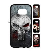 Wholesale Skull Galaxy Note Cases - Daredevil Skull Superheroes Case For Samsung Galaxy Note 5 Hybrid TPUPC Phone Case Free Gift