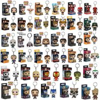 Wholesale Deadpool Marvel Heroes - Funko POP Gxhmy Marvel Super Hero Harley Quinn Deadpool Harry Potter Goku Spiderman Joker Game of Thrones Figurines Toy Keychain