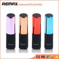 Wholesale Iphone External Charger Mini Lipstick - REMAX Mini Lipstick Power Bank 2400MAH Portable Powerbank bateria externa External Mobile Phones Battery Charger For iPhone 6s 6