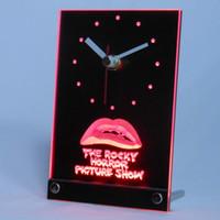 thermomètre led livraison gratuite achat en gros de-Gros-tnc0220 Le Rocky Horror Picture Show Table Bureau 3D LED Horloge