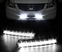 Super lumière 8 LED Bright White DRL Car Daytime Running Light voiture lumière Universal IP67 Waterproof Day Lights Lampes de tête de course