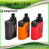 Wholesale One Mini Red - Original Kanger TOGO Mini 2.0 Starter Kit 1600mah All Ine One with KangerTech CLOCC Coil Head 1.9ml Capacity 100% genuine DHL Free 2211086