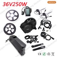 US EU No Tax 36V 250W E-Bike kit 8fun / bafang Motor Wheel per bicicletta BBS01 + 36V 10AH Modificato Mountain E-bici Batteria agli ioni di litio