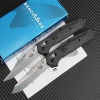 Wholesale Carbon Fiber Knives - butterfly BM940 BM943 BM 940 940-1 943 D2 blade Carbon fiber AXIS Hunting Folding Pocket Knife Survival Knife Xmas gift 1pcs