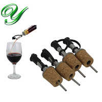ingrosso bottiglie di vino flip top-Spruzzatore di olio d'oliva Distributore di liquore Vino Sughero Versatore beccuccio tappo tappo bottiglia di birra tappo rubinetto rubinetto in acciaio inox bar strumenti accessori