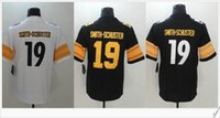Wholesale Pro Sports Football - New color rush style #19 JuJu Smith-Schuster American College Football Stitched Team Uniforms Shirts Embroidery Mens Sports Pro Team Jerseys