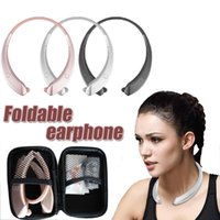 Wholesale Microphone Neck - Wireless Bluetooth Headphones MIC Neck Halter Style Headset Earphone hws 998 Hands-free Calling for android iphone X iphone8 7