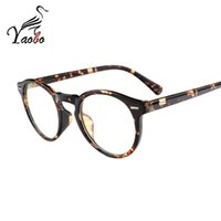 Wholesale Vintage Optic Glass - Yaobo Vintage Unisex Rivet Eyeglasses Frame With Clear Lens Women Men Retro Myopia Prescription Optic Frame Glass Oculos