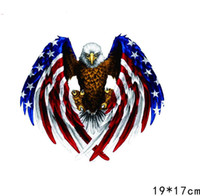 Wholesale Eagles Car Stickers - 19*17 cm American Styling Eagle Sticker and Decals Motorcycle Car pickup RV SUV BMW Toyota Audi GMC Suitcase Family Stickers