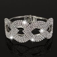 Wholesale Steel Spring Prices - Wholesale price New Fashion sliver plated Crystal rhinestone Cuff Bangle Bracelet Women Jewelry B018