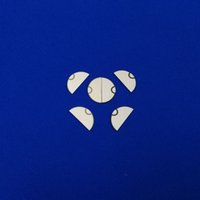 2.5MHz Piezo Ceramic Fetal heart monitoring transducer PZT Semicircle Piezo Electric Ceramic Disc for Fetal Heart Monitoring