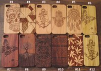 Wholesale Iphone Wooden Cases For Sale - 2017 Hot sale Nature Cherry Wood Case Phone Case For Iphone 7 7 plus 6 6s Custom Carved Real Wooden Bamboo Mobile Phone TPU Back Cover
