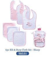 Wholesale Cute Towels For Girls - 5 Cartoon 6 Pcs lot Bibs for Baby Girl and Boy Sheep Pink Cute Babadores Baby Bibs Towel Clothing Baby Accessories