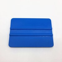 Wholesale Blue Color Car Sticker - Car Sticker Vinyl Wrap Film PP Plastic Wrapping Tools Plastic PP Squeegee 12.5CM*8CM DHL Free shipping