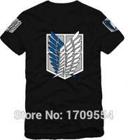 Wholesale Wholesale Japanese Fashion Clothing - Wholesale- Japanese anime shingeki no kyojin tee shirt Attack On Titan short-sleeve T-shirt,t shirt men,tshirt,scouting legion clothes GC59