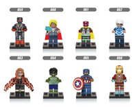 120pcs Mix Lot Super Heroes Minifig Superman Thor Captain America Iron Man Hulk Bat Figure X059-066 Mini Building Blocks Figures