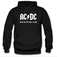 Wholesale Ac Dc Fashion - 2017 autumn New fashion AC DC band rock sweatshirt Mens acdc Graphic hooded men Print Casual hoodies hip hop brand tracksuit