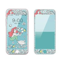 Wholesale Cartoon Screen - For iPhone 6 6s 7 plus Carbon Fiber Tempered glass Relief Fashion Cartoon Pattern Anti-explosion Screen Protector With Retail package