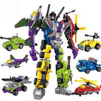 Wholesale Building Blocks Truck - Educational Building Blocks Toys Robot Transformer Truck Hero Destroyer Ares Cars Vehicles Compatible brinquedos para as crianças