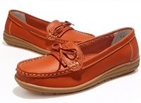Wholesale A1 Rubber - new Casual Shoes Woman 2017 Genuine Leather Women Shoes Flats Loafers Slip On Women's Flat Shoes Moccasins model A1-27