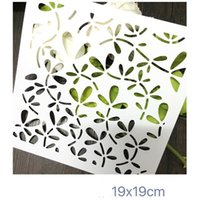 Wholesale Cheap Stencils - White cheap washable DIY stencils Masking template For Scrapbooking,cardmaking,painting,DIY cards-The leaf background 268