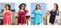 Wholesale 2017 plus size swimdress padded skirt women swimsuit L XL colors hot sale hot spring summer beachwear