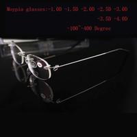 Wholesale Nearsight Glasses - Wholesale- Rimless Metal Moypia Glasses Women's men's ultra-light fashion rimless Nearsight glasses -1.0 -1.5 -2.0 -2.5 -3.0 -3.5 -4.0
