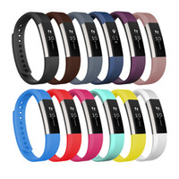 Wholesale small bracelets - Fitbit Alta Band 12 Pack Classic Colors Small Large TPE Bracelet Strap Replacement Band for Fitbit Alta Smart Fitness Tracker FC0024Z12
