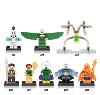 DHL 60Set Super Heroes Spider-Man Doctor Octopus Blanco Tiger Sandman Kraven El Hunter Building Blocks Niños Regalo Juguetes X0123