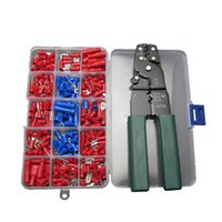 Wholesale Wire Terminal Ring - 240pc Spade Ring Terminals with Wire Cutter Crimper Stripper Tool Assortment Kit