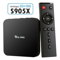 TX5 Pro 2GB 16GB TV BOX Amlogic S905X HD Totalmente Android 6.0 TV Box Quad Core 1080P 3D H.265 4K Apps Bluetooth Smart Set Top Box