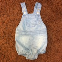 Wholesale Romper Jeans Baby - Baby Jeans Romper Boy Girls Clothes Denim Soft Elastic Summer Suspender Pocket New Infant Children Romper