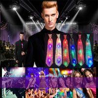 gravatas de lantejoulas para homens venda por atacado-Nova Moda Light Up LED Luminosa Lantejoulas Gravatas Cores Mutáveis Gravata Led Tie Flashing Tie Para as mulheres homem IC913