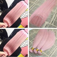 Wholesale Wholesale Virgin Hair For Sale - Popular Color Pink Human Hair Bundles With Closure Silk Straight Peruvian Virgin Hair Unprocess 4*4 Pink Lace Closure With Bundles For Sale
