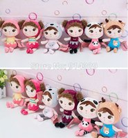 Wholesale Cute Deer Stuffed Animals - Wholesale- 22CM Very Cute Metoo Angela Plush Stuffed Animals Dolls Deer Bee Baby Toys Keychain Children Christmas Birthday Gifts for Girls