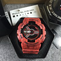 Wholesale Quartz Shop - AAA NEW BRAND wristwatch Military camouflage GA100 Men's Sport Watch G LED electronic digital watches casual watches free shopping