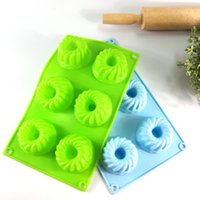 Wholesale Cupcake Mold Diy - Silicone Mould DIY Screw Shape Ice Tray Mold High Temperature Resistant Microwave Oven Cupcake Cake Moulds For Home 4 4zy R