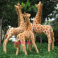 Wholesale Large Toy Giraffe - Wholesale- Artificial animal giraffe plush toy doll supplies home accessories Large size about 95cm gift