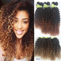 Wholesale Kinky Curly Synthetic Weave - Fashionkey 6 Bundles Synthetic Kinky Twist Crochet Braids Hair Blonde and Black Hair Weave Ombre Braiding Curly Crochet Hair Extension ZB009
