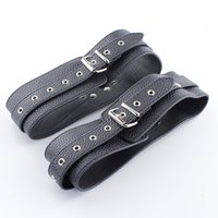Wholesale Thigh Restraints Adult - SODANDY Thigh Cuffs Black Leather Upper Arm Cuffs Leg Restraints Bondage Sex Toys BDSM Fetish Erotic Toys Adult Game Products