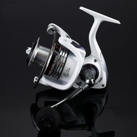 Wholesale Soft Bait Reels - 13+1BB Frong Drag Smooth Spinning Fishing Reel High Speed 5.2:1 Fishing Reel Small Reel 1000 Series CNC Full Metal Soft EVA Handle-White