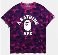 Wholesale Ape T - New Design Fashion ape High Quality Cotton Black White Kanye West Tees Facebook Fog Longline Ribbon T-Shirt